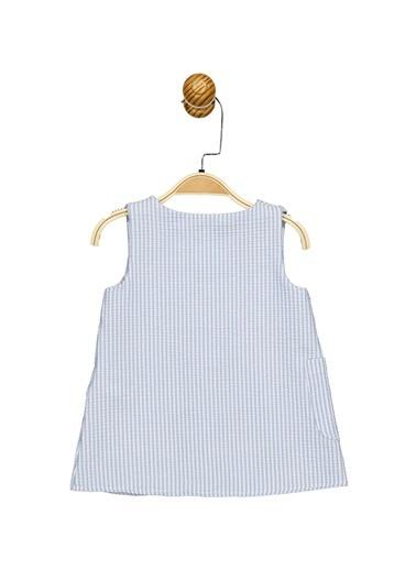 Minnie Mouse Lisanslı Bebek Elbise 17459 Mavi